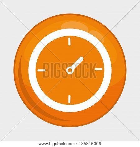 Social Media button represented by clock multimedia app . Colorfull and isolated illustration