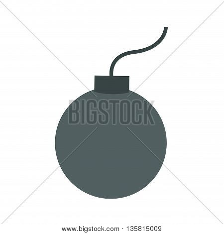 simple flat design of bomb icon vector illustration