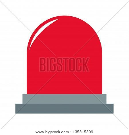 simple flat design of red police or ambulance flasher light vector illustration