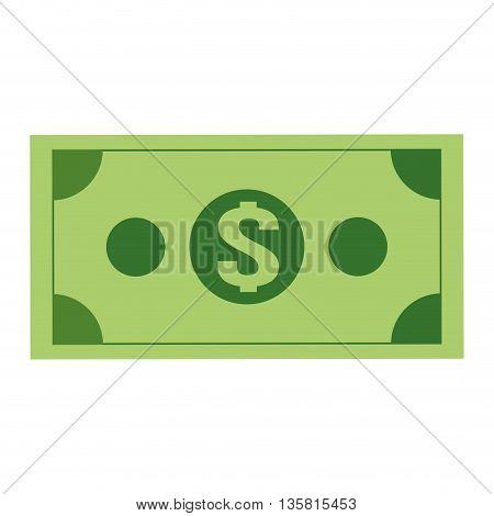 simple flat design of green dollar bill icon vector illustration