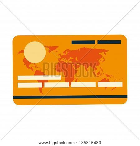 flat design of credit or debit card icon vector illustration