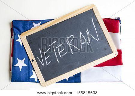 Symbol Of The American Flag Celebrates Veterans