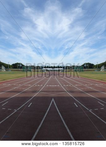 a running track that represents the line you have to run each