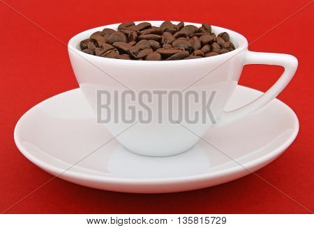 a cup of coffee bean that is good at any time of day or night