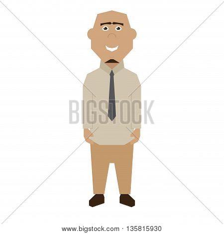 Isolated Businessman