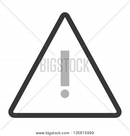 simple black line triangle with exclamation mark vector illustration