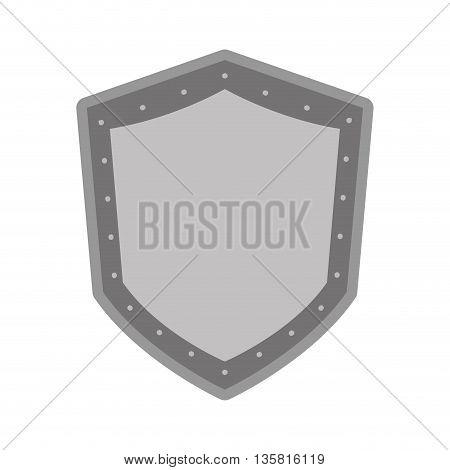 simple black line shield icon vector illustration