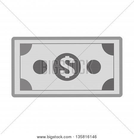 simple black line dollar bill icon vector illustration
