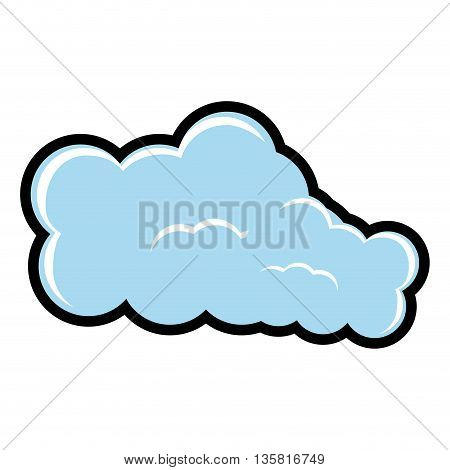 Weather concept represented by cloud icon. isolated and flat illustration