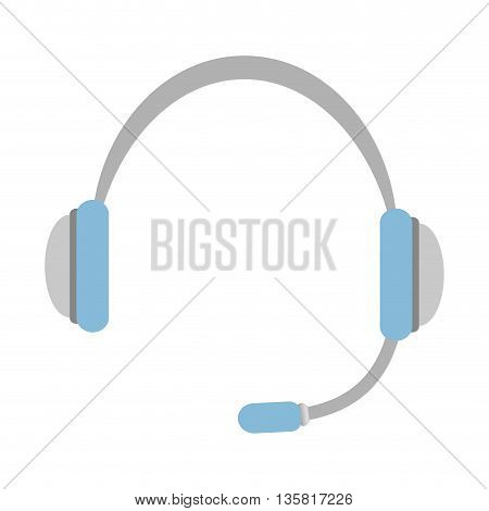 Sound and music concept represented by headphone icon. isolated and flat illustration