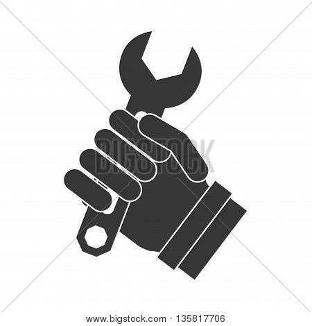 Tool concept represented by wrench icon. isolated and flat illustration
