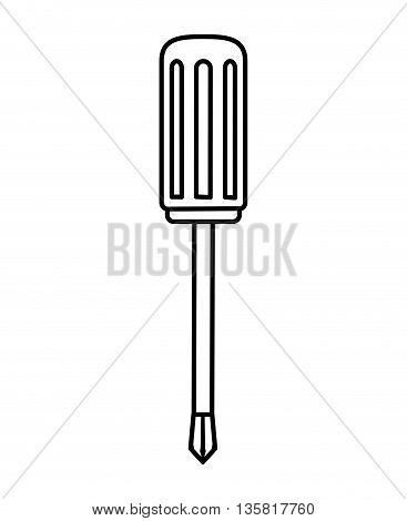 Tool concept represented by screwdriver icon. isolated and flat illustration