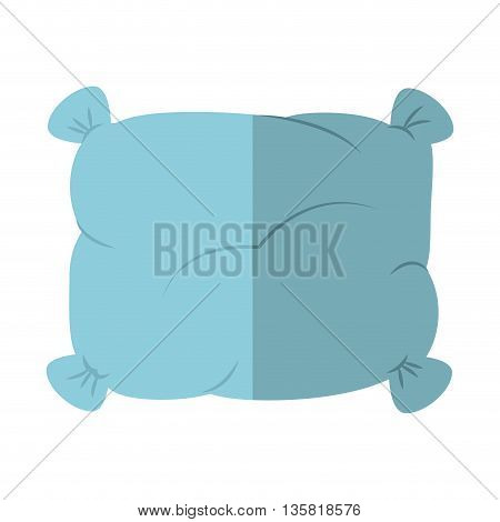 Resting and sleep concept represented by pillow icon. isolated and flat illustration