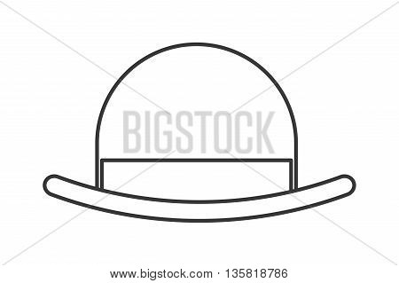 simple black line vintage hat vector illustration