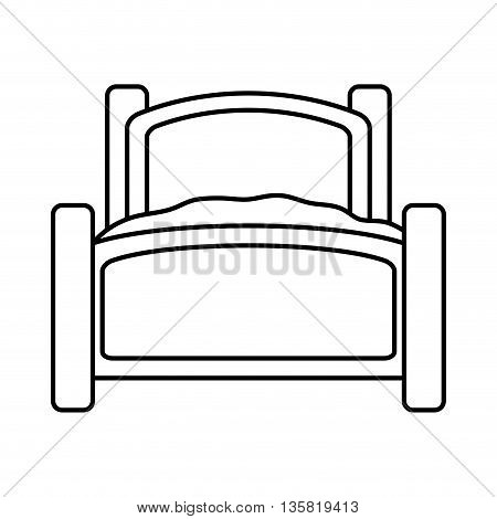 Resting and sleep concept represented by bed icon. isolated and flat illustration