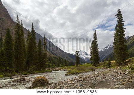 Barskaun gorge in Issyk Kul lake, Kyrgyzstan.