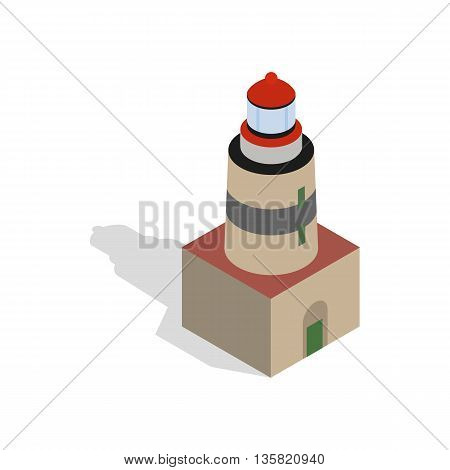 Falsterbo lighthouse, Sweden icon in isometric 3d style on a white background