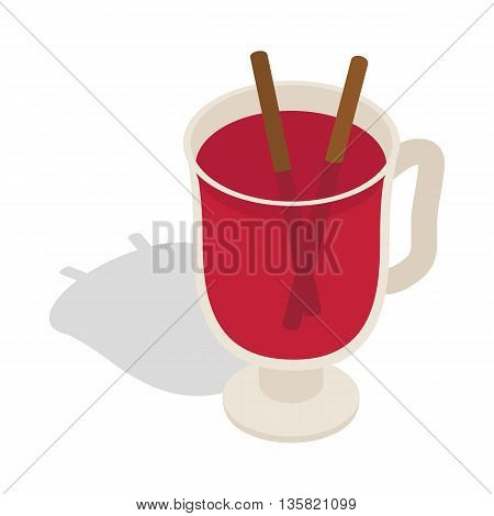 Swedish glogg icon in isometric 3d style on a white background
