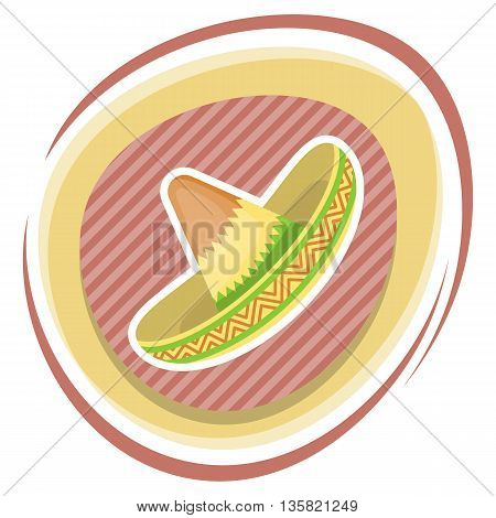 Mexican Hat Colorful Flat Icon