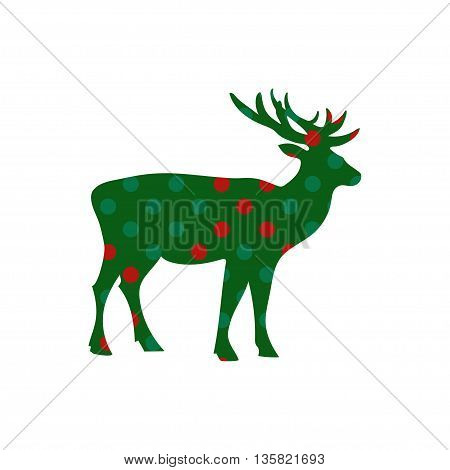 Deer Christmas holiday vector card for your design