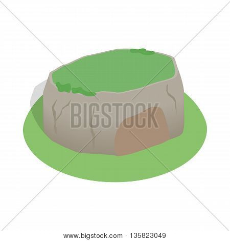 Sigiriya rock, Sri Lanka icon in isometric 3d style on a white background