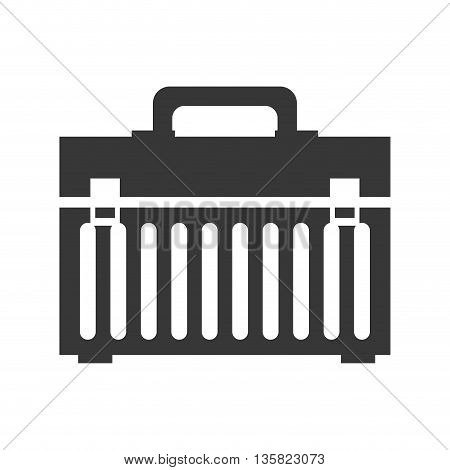 Tool concept represented by tool kit icon. isolated and flat illustration
