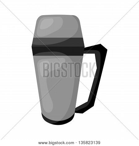 Vector Illustration Thermos Icon Cartoon Design