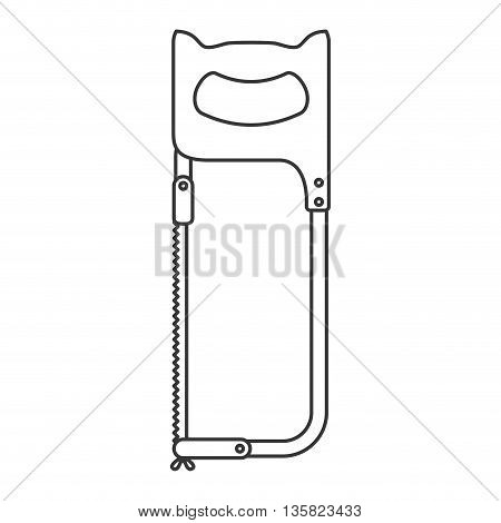 Tool concept represented by Saw icon. isolated and flat illustration