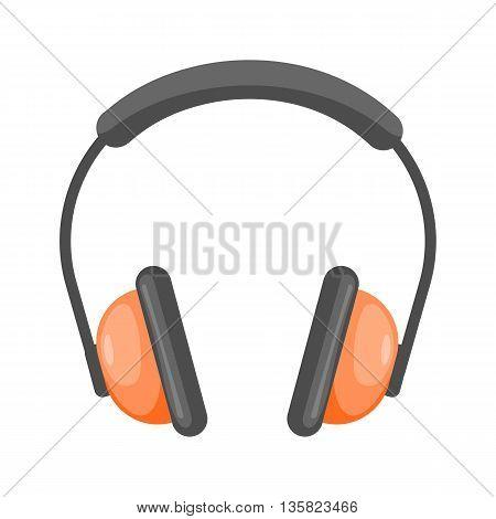 Vector Headphones Cartoon Icon