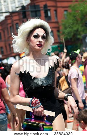 Chicago, IL, 6/28/2015, People participate in the annual Pride Parade and celebrations in Chicago, IL 6/28/2015