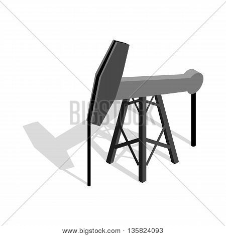 Oil pump icon in isometric 3d style on a white background