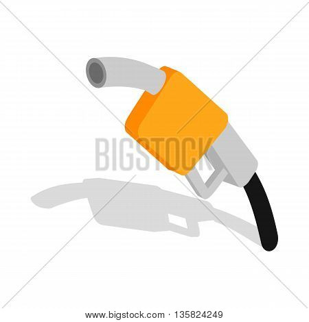 Gas station gun icon in isometric 3d style on a white background
