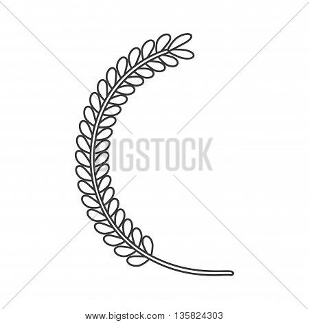 Rustric concept represented by leaves icon. isolated and flat illustration