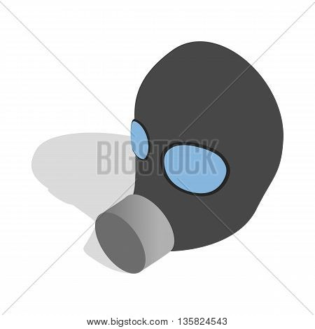 Gas mask icon in isometric 3d style on a white background