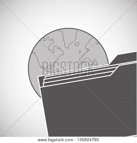 file concept with icon design, vector illustration 10 eps graphic.