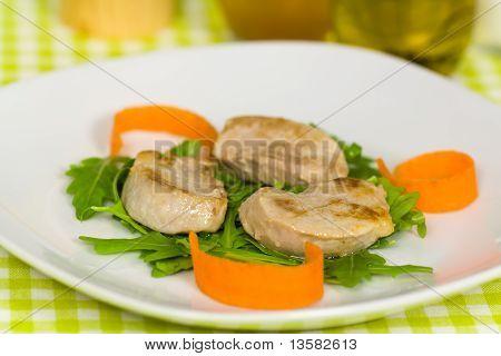 fresh roasted pork fillet - tenderloin with vegetables