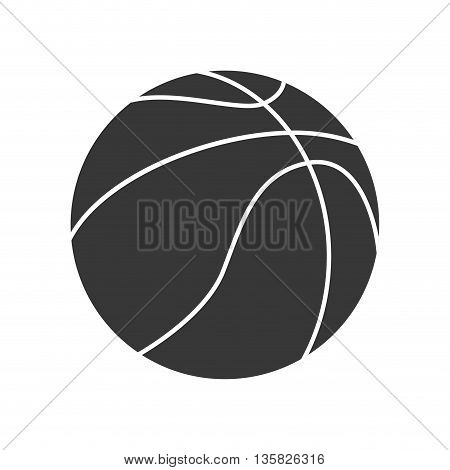 Basketball concept represented by ball icon. isolated and flat illustration