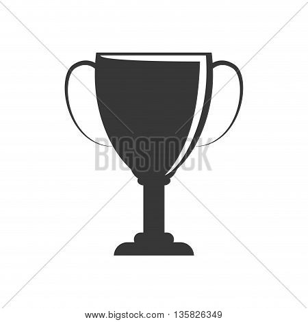 Winner concept represented by trophy cup icon. isolated and flat illustration