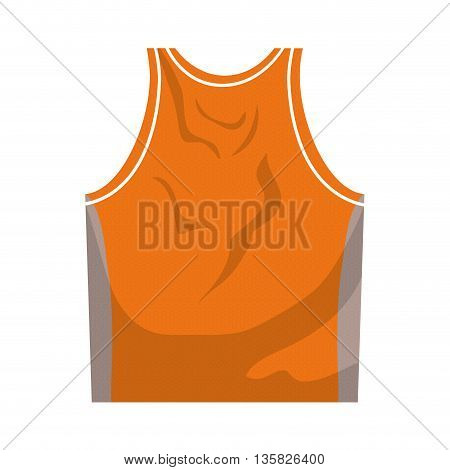 Basketball concept represented by tshirt icon. isolated and flat illustration
