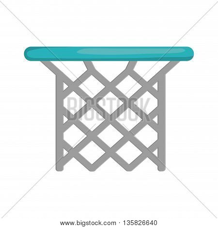 Basketball concept represented by basket icon. isolated and flat illustration