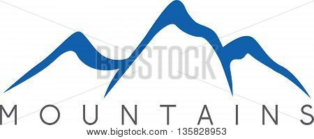 Simple Vector Illustration Of The Abstract Mountains