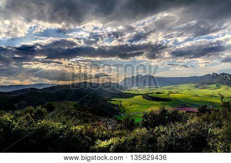 Berrueza Valley. This very near the monastery of Iranzu, the Alloz reservoir, Camino de Santiago
