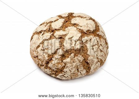 Close up Rye bread isolated on white background
