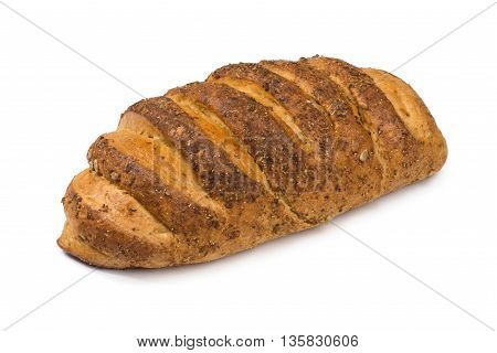 Close up Fresh bread isolated on white background