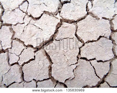 Dry, cracked ground in Badlands National Park
