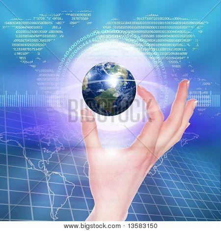 Ilustración de tecnología global