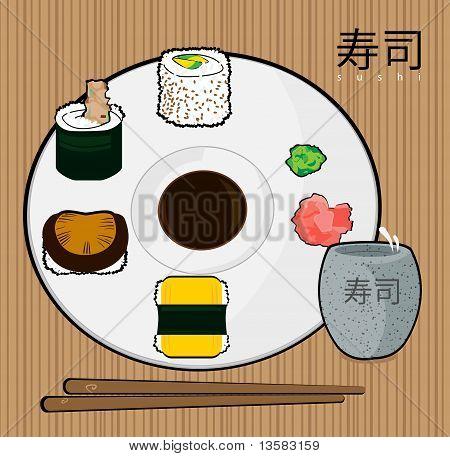 Rollos de sushi