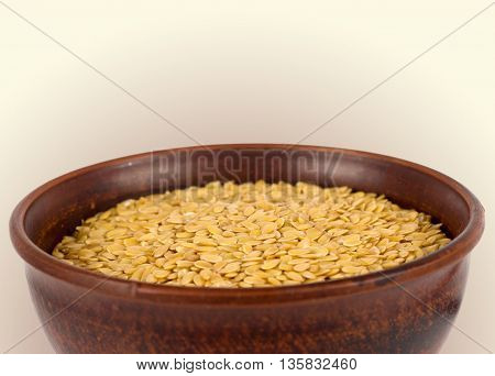 golden flax seed. Super food. Nutritious and healthy seeds.
