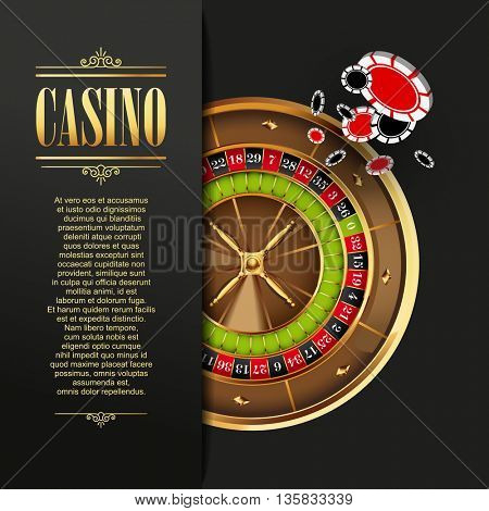 Casino background. illustration.