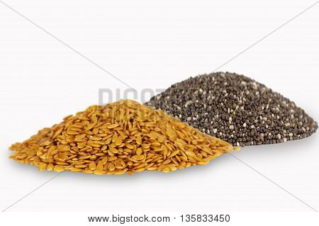 Golden flax and chia seeds. Super food.